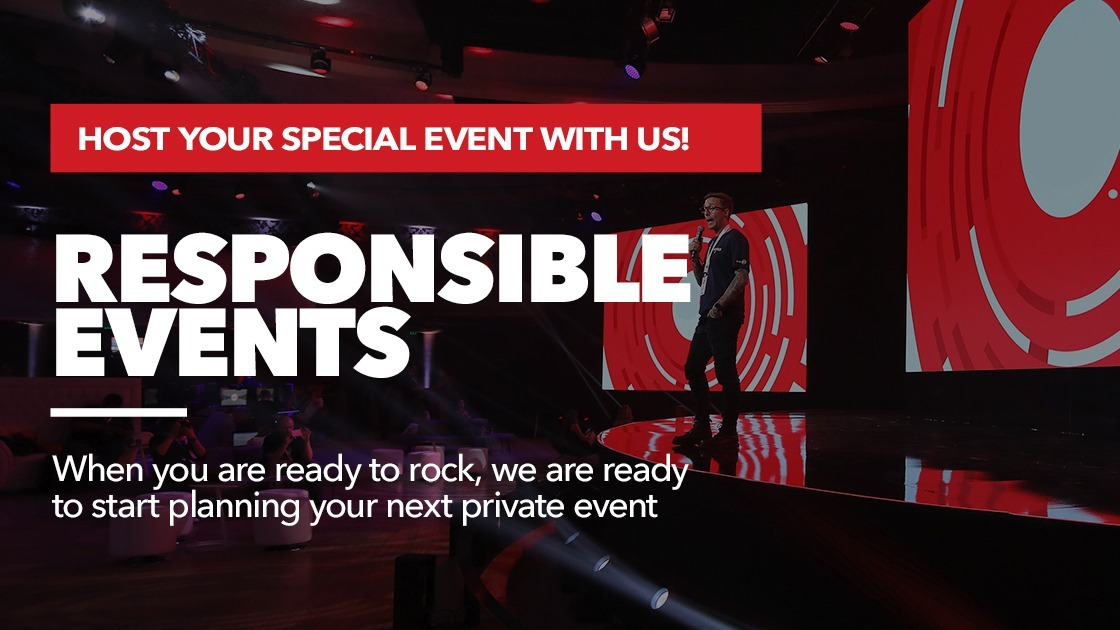 Host your Special Event with Us - Responsible Events - we are re