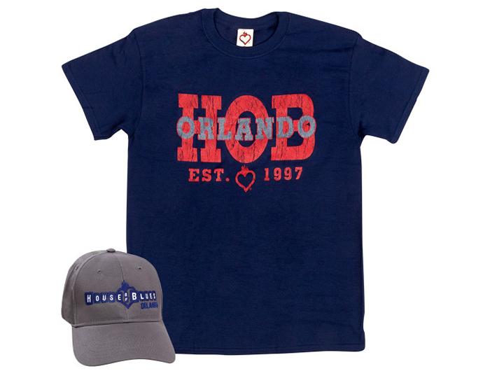HOB Orlando Hat & T-shirt