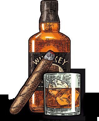 Bourbon-cigar